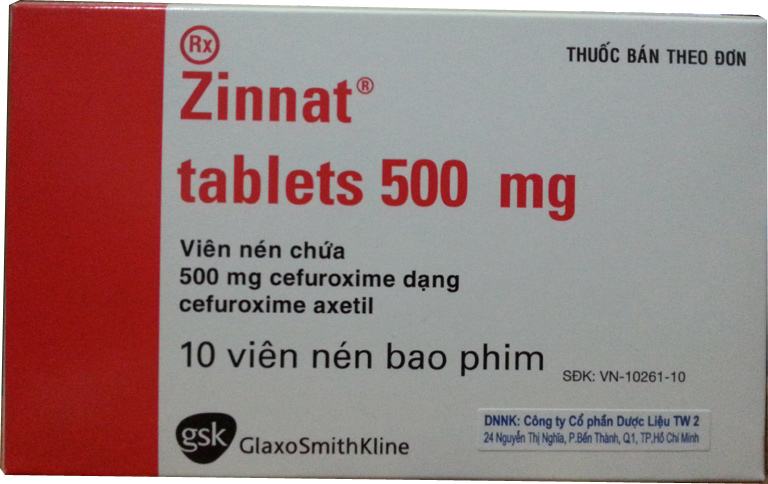 Zinnat tablets 500mg