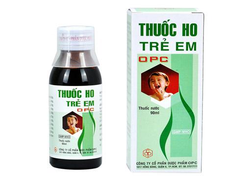 Thuốc ho trẻ em OPC - Thuốc biệt dược, công dụng , cách dùng - VD ...