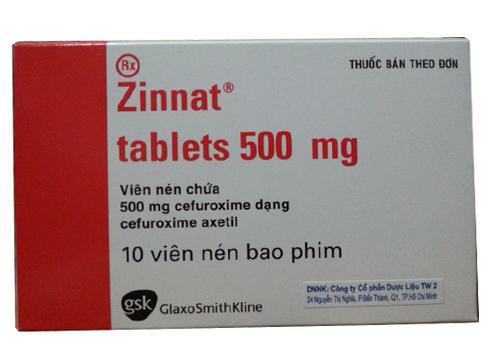 Zinnat tablets 500mg