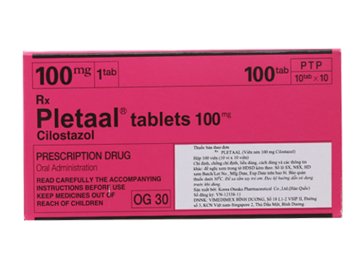 Pletaal tablets 100mg