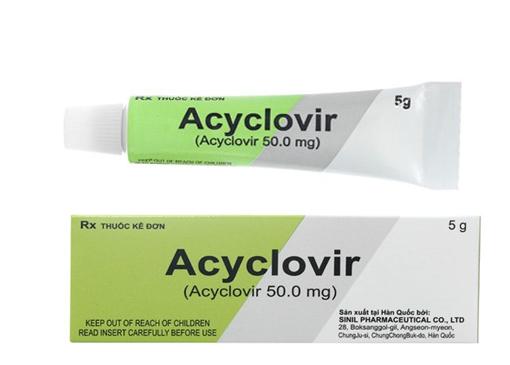 Acyclovir cream sinil