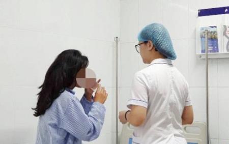 Bệnh nhân đang được điều trị tích cực tại BV Da liễu Trung ương.
